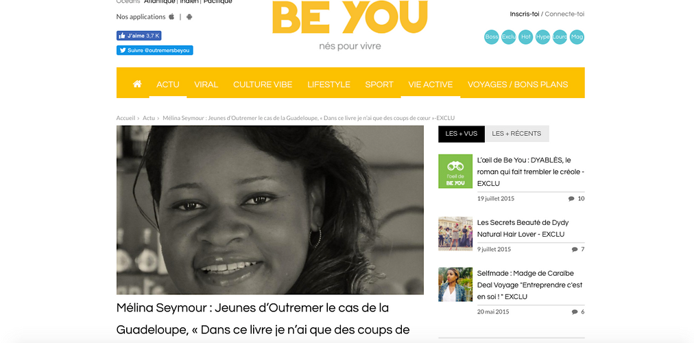 Article Web BE YOU