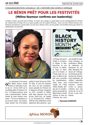 Article de presse - Bénin
