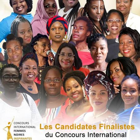 Les vingt candidates finalistes du concours international des femmes noires inspirantes