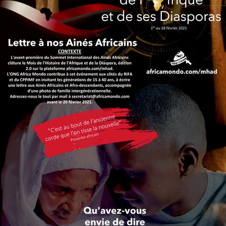 Écris une lettre aux Aînés africains