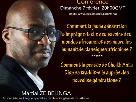 Martial ZE BELINGA, l'un des brillants conférenciers de l'édition 2.0 du MHAD