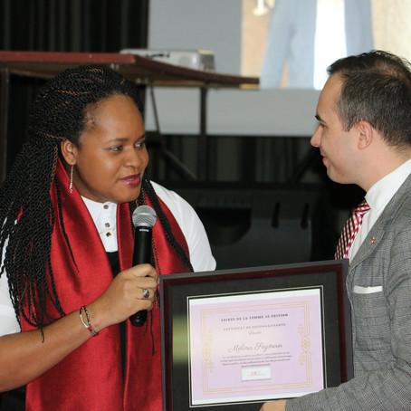 Mélina Seymour récompensée, au Québec, en tant que Femme Leader