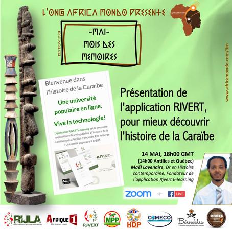 Présentation de RJVert, une application pour découvrir l'histoire de la Caraïbe