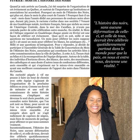Africa Mondo Magazine, parution du mois de février, édition spéciale MHNQ 2019