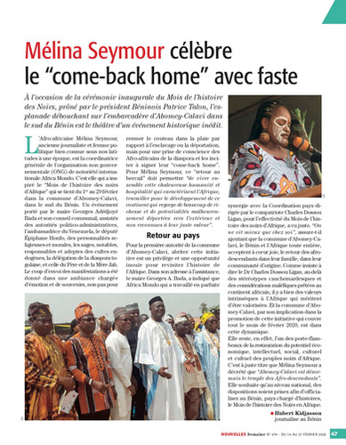 Nouvelles Semaine n°479