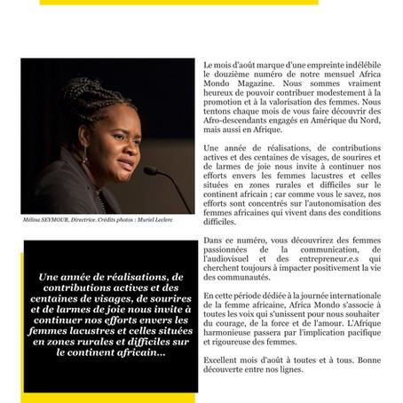 Éditorial Africa Mondo Magazine, août 2019