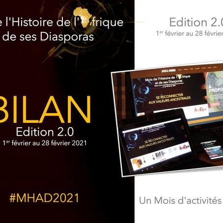 Bilan du Mois de l'Histoire de l'Afrique et de ses Diasporas, version 2.0, édition 2021