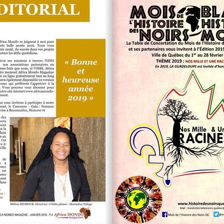 Africa Mondo Magazine, parution du mois de janvier
