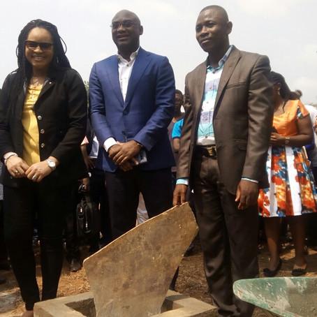Pose de la 1ere pierre de la Maison de l'étudiant à l'Université de Lomé
