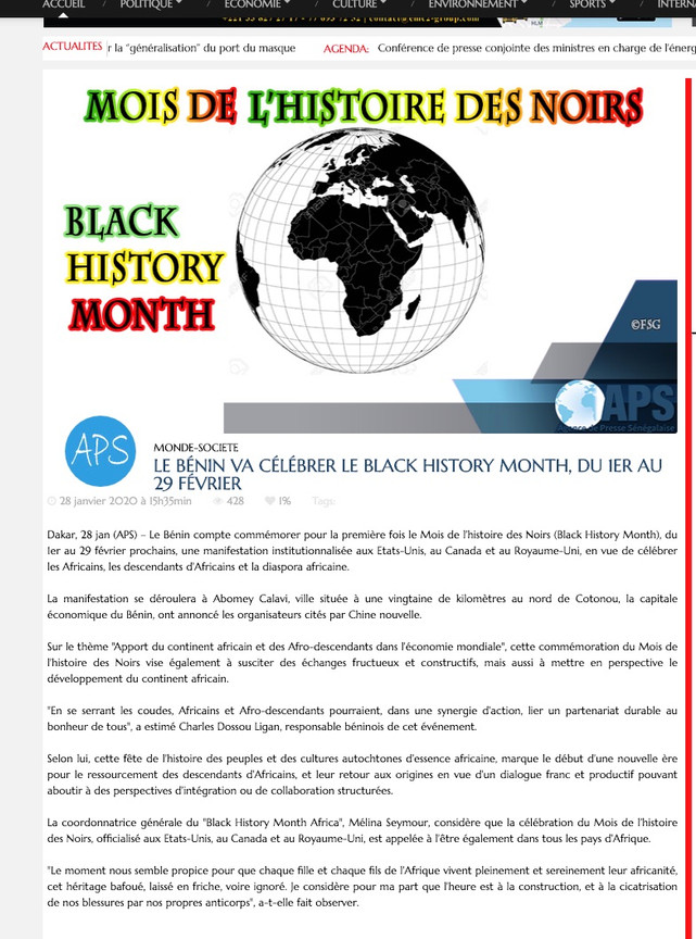 article mois histoire des noirs benin af