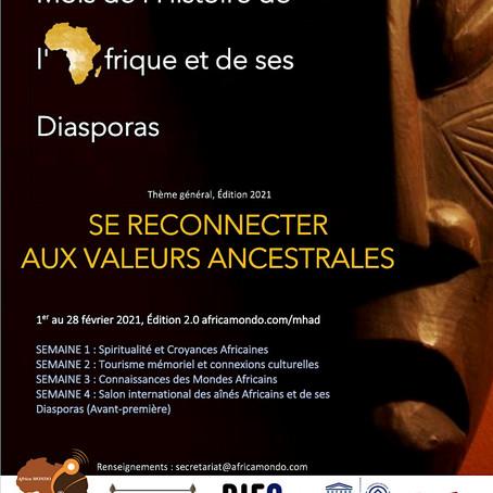 Le Mois de l'Histoire de l'Afrique et de ses Diasporas, édition 2.0 en 2021