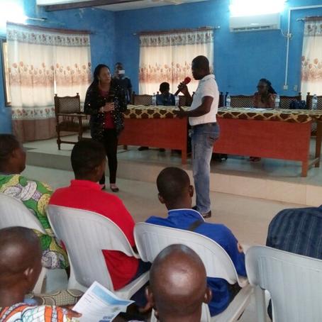 Conférence avec les jeunes à Anéhò, Togo