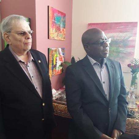 Visite de l'Ambassadeur du Bénin au Siège de Africa Mondo au Québec
