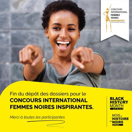 Clôture des dépôts de candidatures du Concours International Femmes Noires Inspirantes, édition 2020