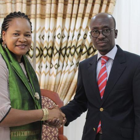 Le Ministre de la Culture et du Tourisme reçoit Africa Mondo pour le Black History Month Africa