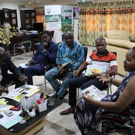 Georges Bada Maire d'Abomey-Calavi reçoit les organisateurs du Mois de l'Histoire des Noirs au Bénin