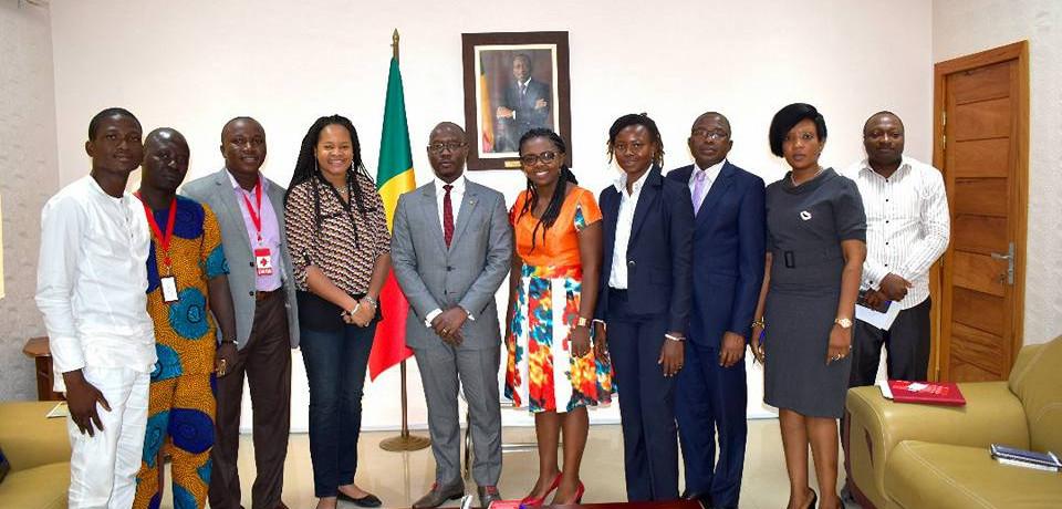 Au Ministère des PME, à Cotonou (Bénin)