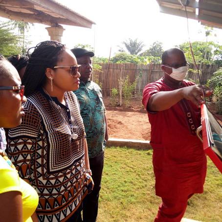 Visite du site de production du Moringa, à Zê Dodji-Bata, Bénin