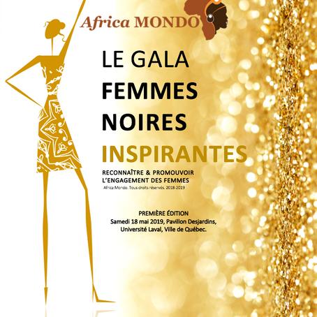 Concours Gala, Femmes Noires Inspirantes, organisé par Africa Mondo