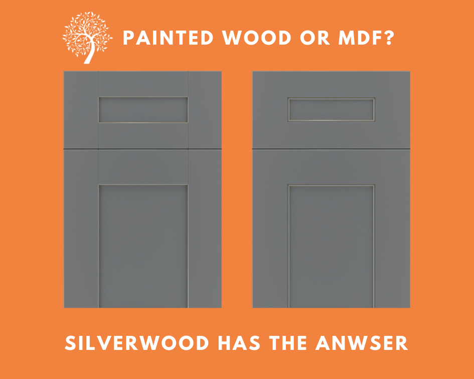 Description of the difference between painting wood cabinet doors vs MDF doors.