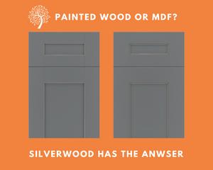 Description of the difference between painting wood cabinet doors vs MDF doors.
