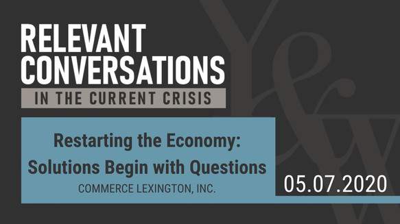 Restarting the Economy - Solutions Begin with Questions