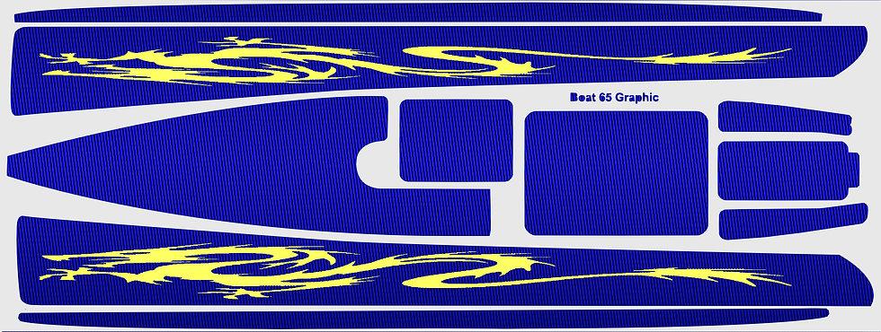 DF65 Blue Carbon Yellow Dragon #15