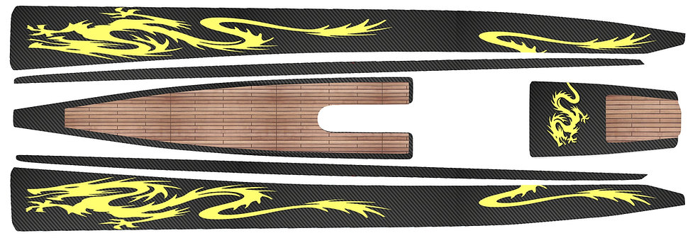 DF95 Black Carbon Yellow Dragon #44
