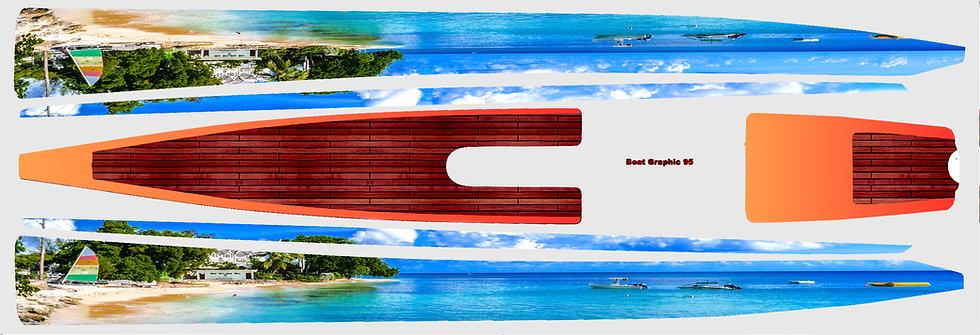 DF95 Beach with dark wood #52