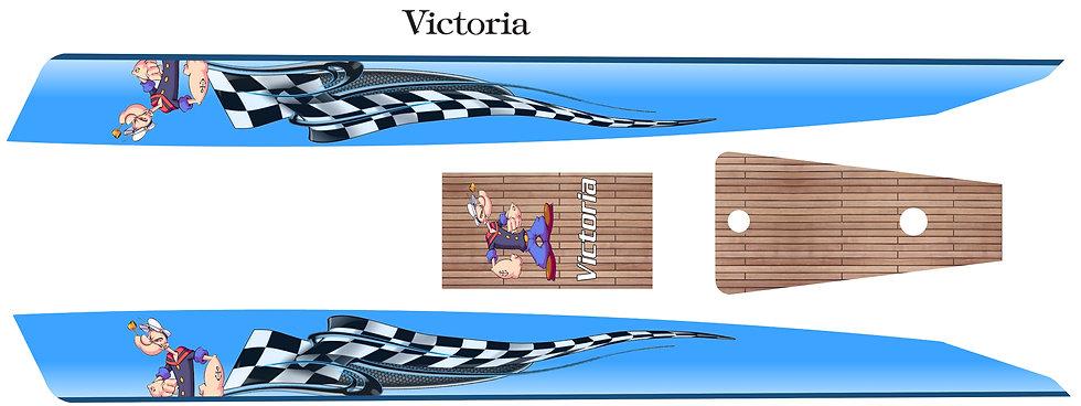 Victoria RC sailboat graphics