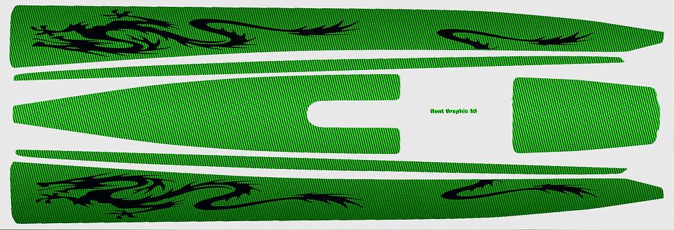 DF95 Green carbon Black Dragon #38
