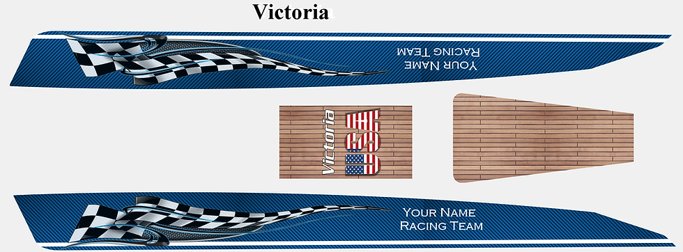 Victoria Blue CarbonFiber custom name #60
