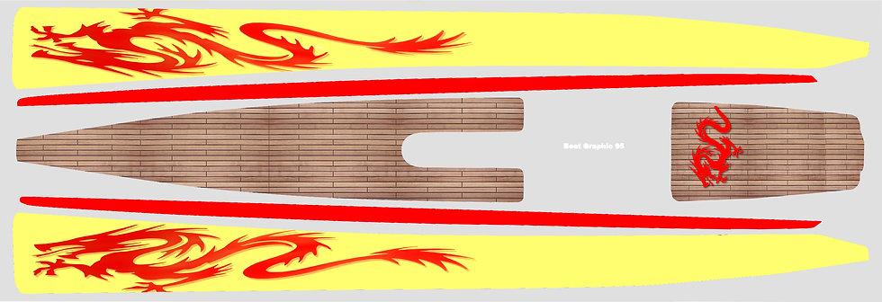 DF95 Yellow China Dragon #27