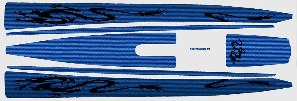 DF95 Blue Carbon Black Dragon #41