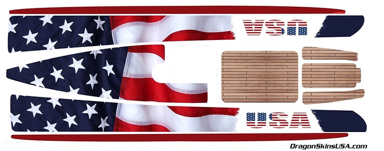 Dragon Force 65 Custom Graphics USA Flag #6