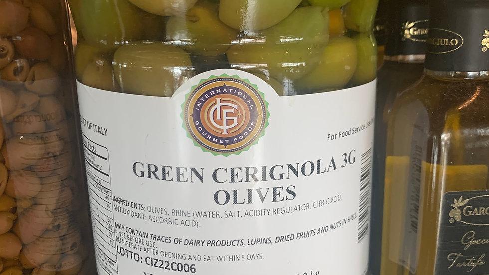 Cerignola Green Olives/pint