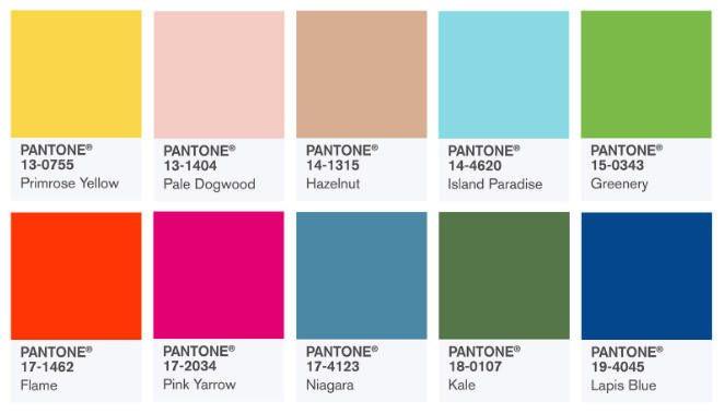 Tendencias color Verano 2018