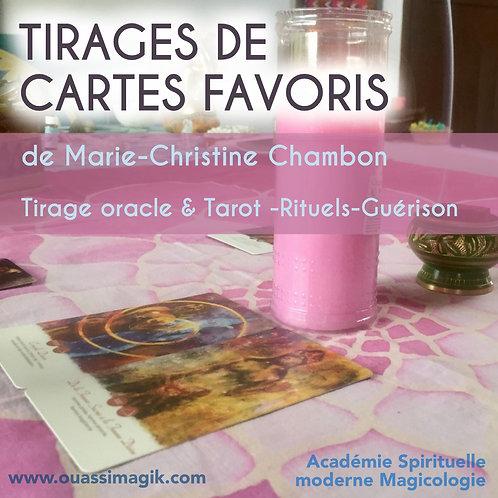 TIRAGES DE CARTES FAVORIS avec Marie-Christine