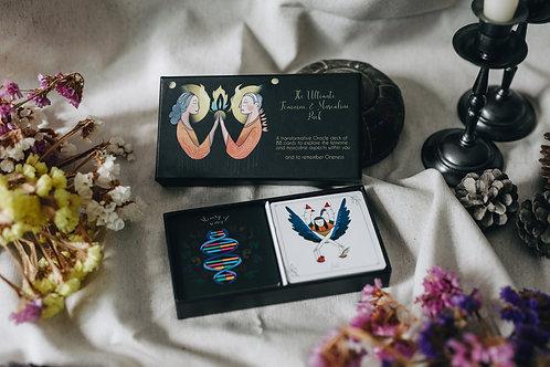 2 ORACLE in 1 : The Ultimate Feminine & Masculine Pack+BOOK /LIVRE