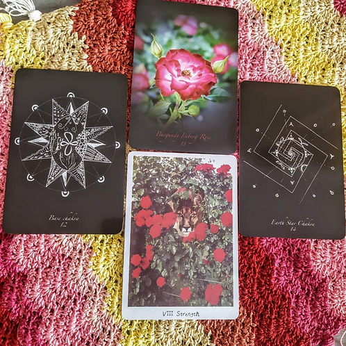 Shamanic Healing with Roses and Flowers + LIONESS tarot