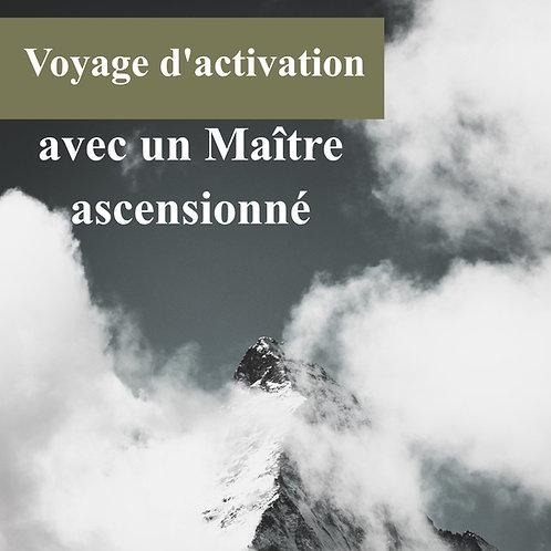Voyage d'activation avec un Maître ascenssionné