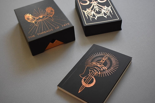 THREADS OF FATE: BLACK + ROSE GOLD ORACLE DECK