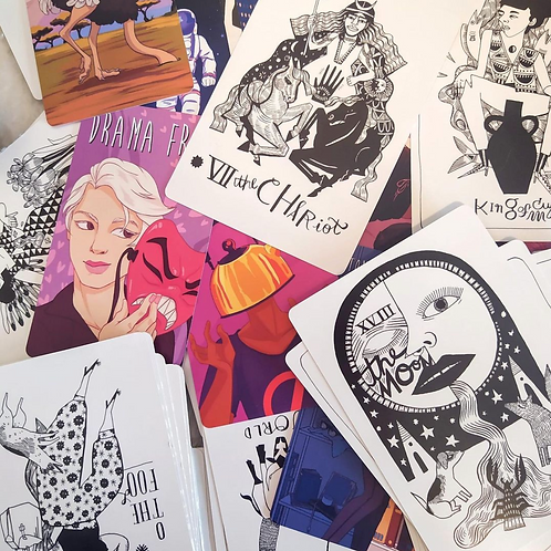 I DON'T CARE + Many Queens Tarot