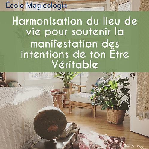 HARMONISATION du LIEU DE VIE pour soutenir la MANIFESTATION des INTENTIONS
