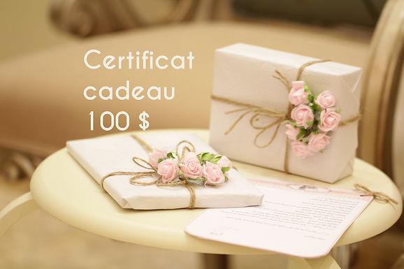 Certificat cadeau 100 $