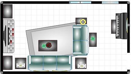 narrow room layout 1