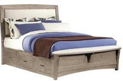 Transitions Upholstered Storage Bed (King)