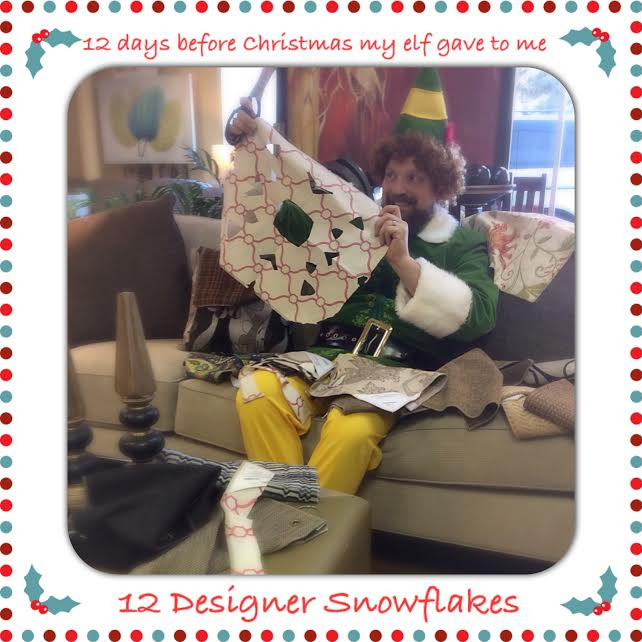 Buddy the elf making snowflakes at TriCity Furniture
