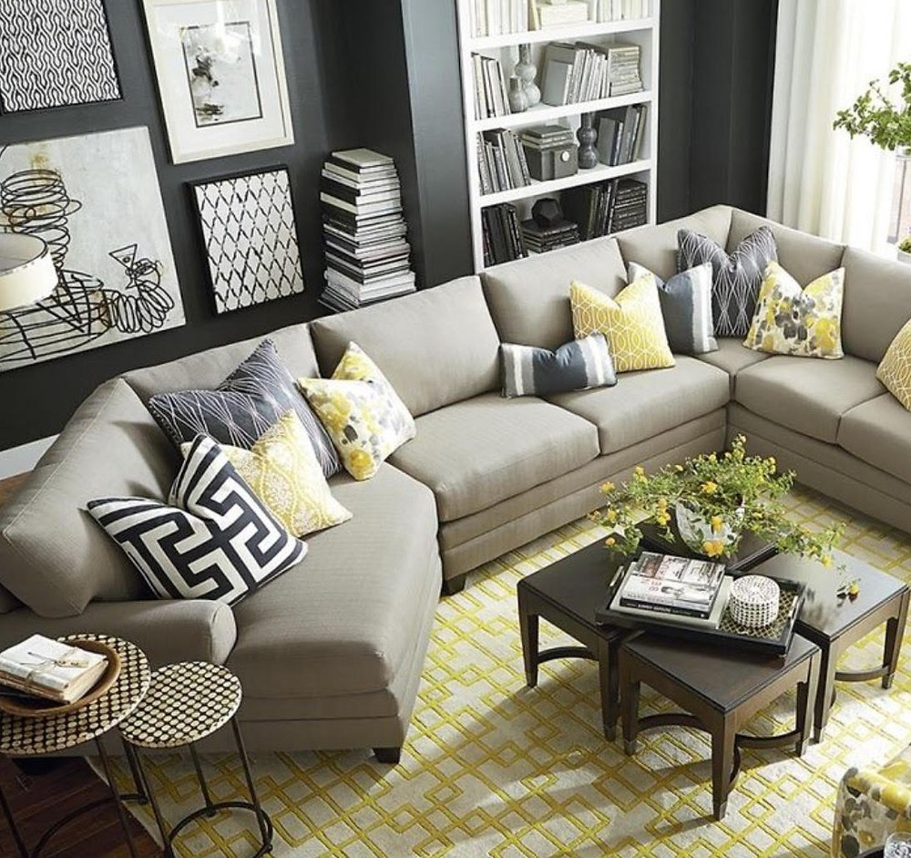 Sectional within a room from TriCity Furniture