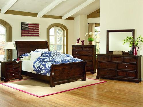 Hanover Sleigh Bed (King)